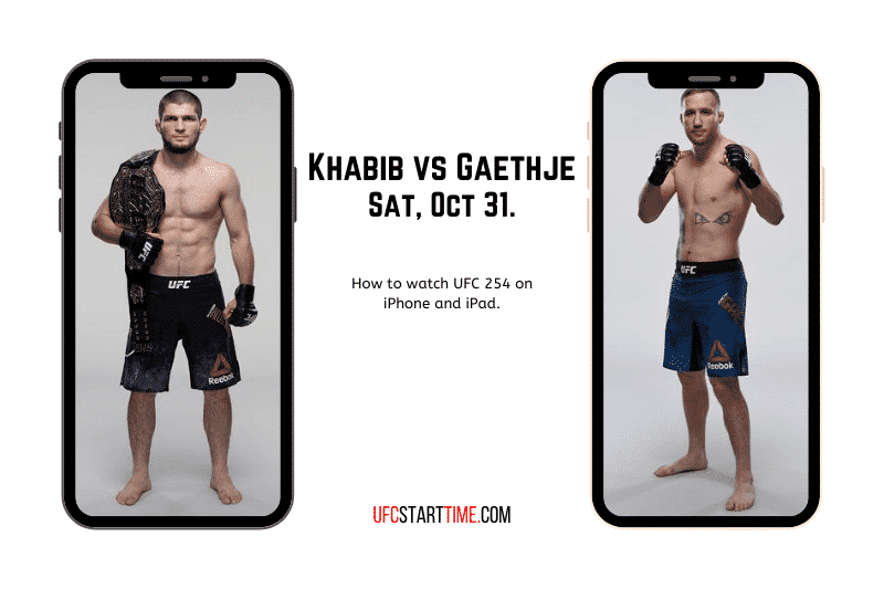 How to watch UFC 254 on iPhone and iPad