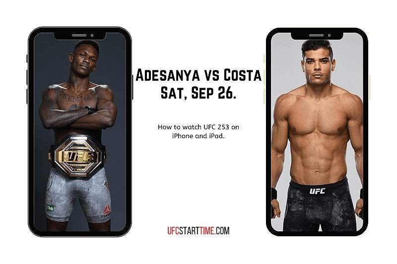 How to watch UFC 253 on iPhone and iPad