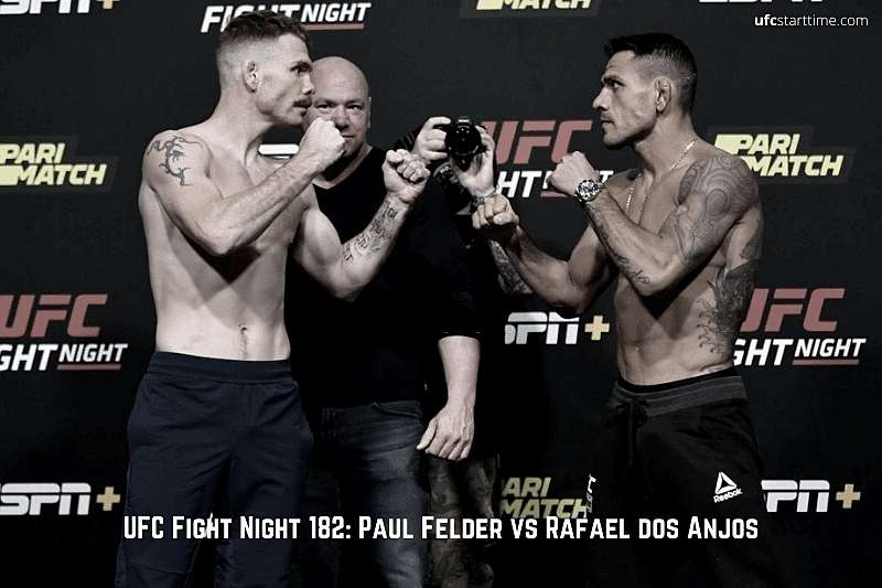 UFC Fight Night 182 Paul Felder vs Rafael dos Anjos
